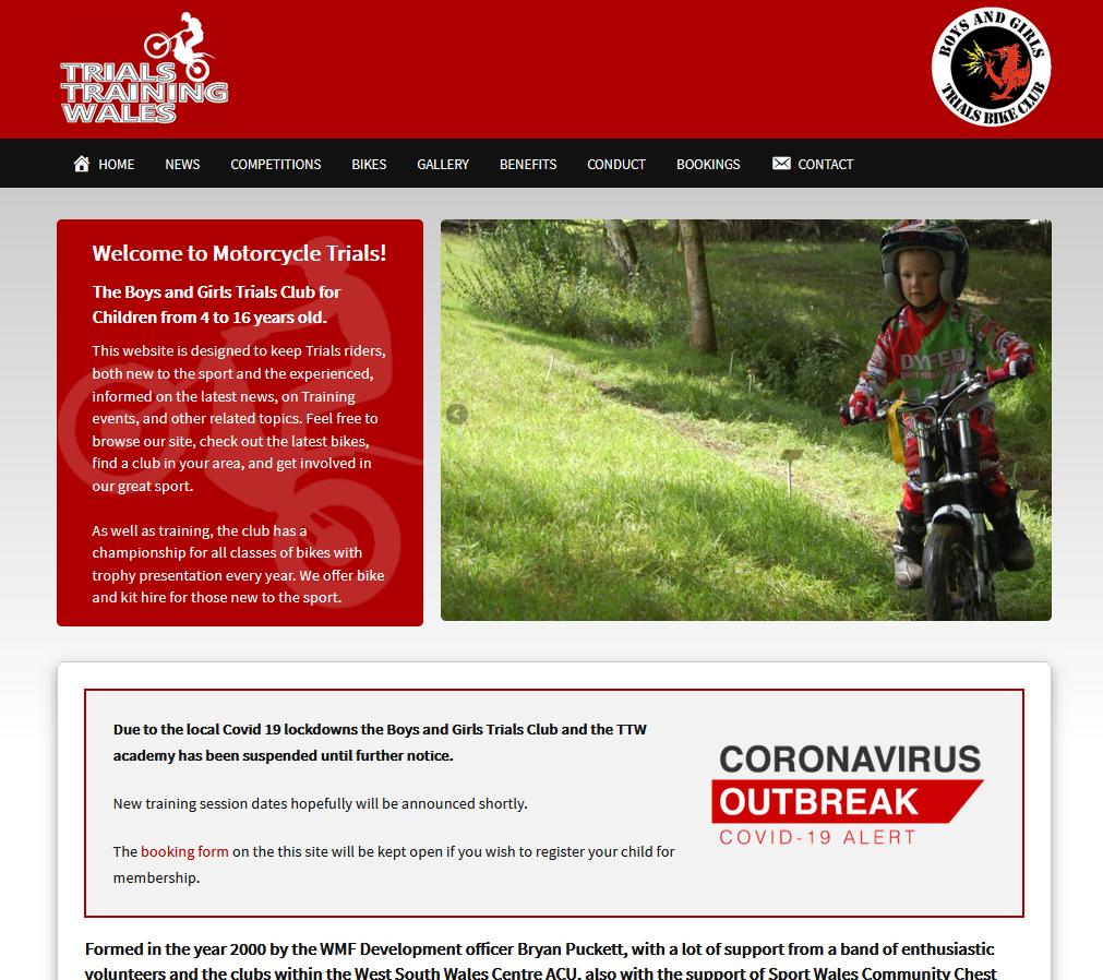 Trials Training Wales